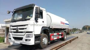 HOWO 16m3 Mobile Oil Tank Refuel Truck