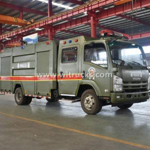 Japan ISUZU 6cbm Military Rescue Fire Truck
