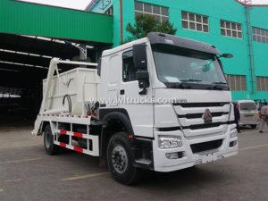 Sinotruk HOWO 10000 liters Skip Loader Swing Arm Garbage Truck
