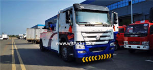6 wheels Sinotruk Howo 16 ton one tow one wrecker towing truck