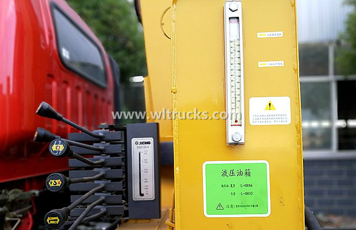 Hydraulic oil specification picture for truck crane in summer and winter