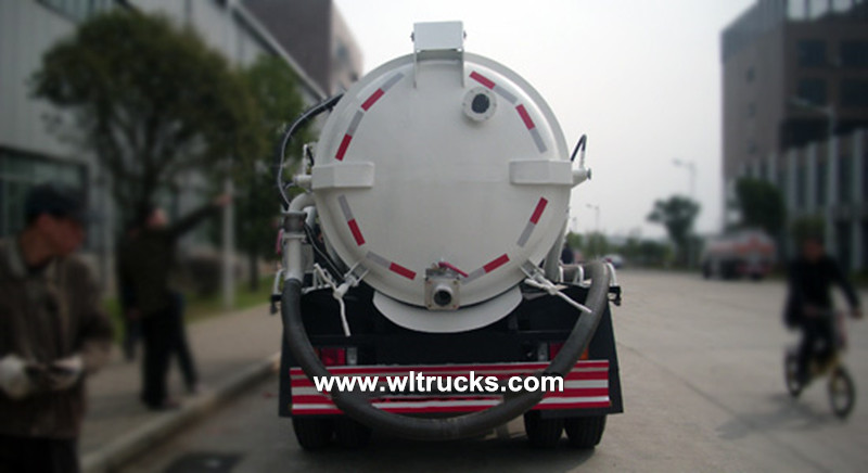 Isuzu 8000 liters sewer vacuum sewage suction truck