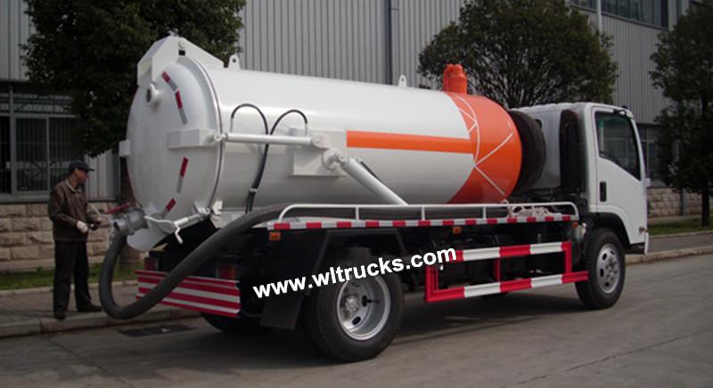 Isuzu 8000L sewer vacuum sewage suction truck