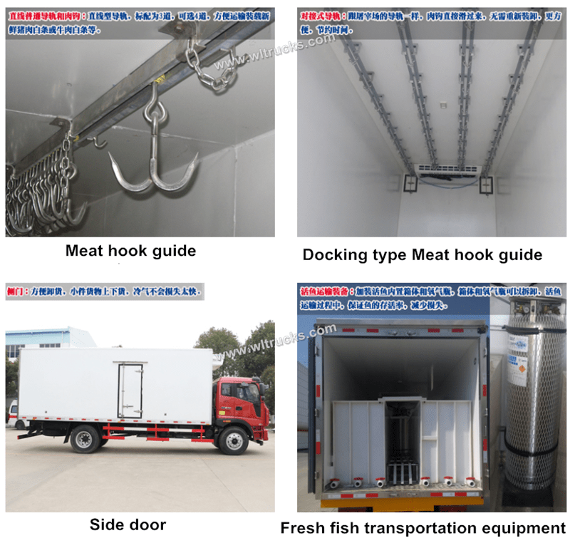 Optional accessories for refrigerated trucks