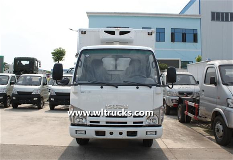 mini Isuzu 3 ton freezer truck