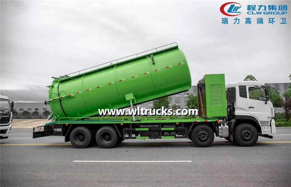 10 wheels Dongfeng Kinland sewage suction truck