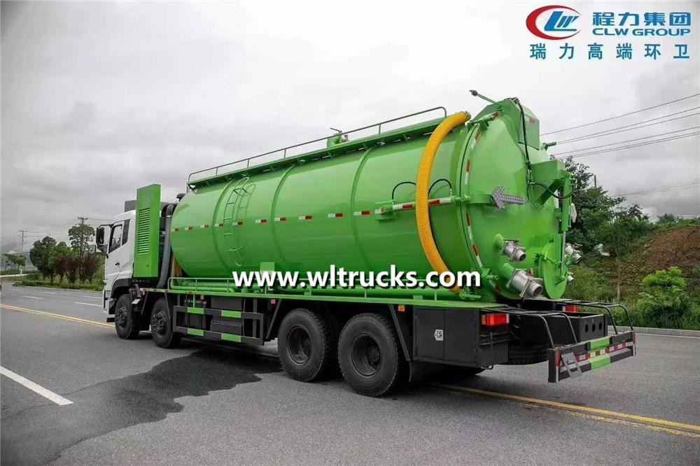 22 tons vacuum sewage suction truck
