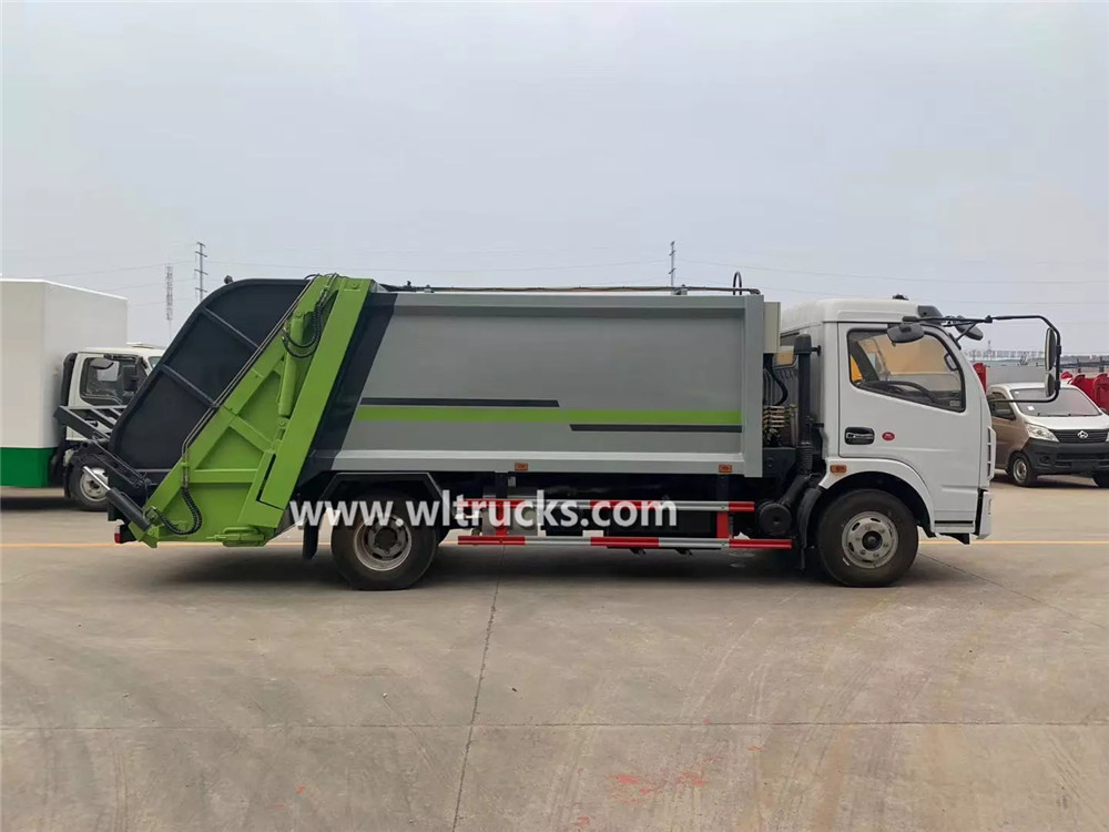 6 cubic meters garbage compactor truck