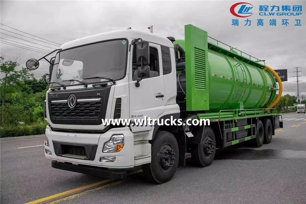 6x4 Dongfeng Kinland sewage suction truck