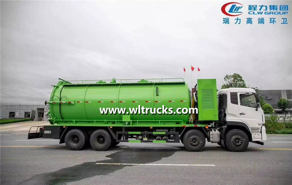 6x4 sewer jetting  sewage suction truck