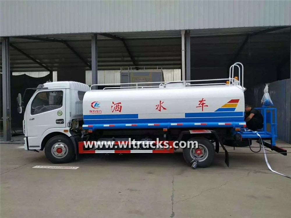 Dongfeng brand 8ton water tank bowser truck
