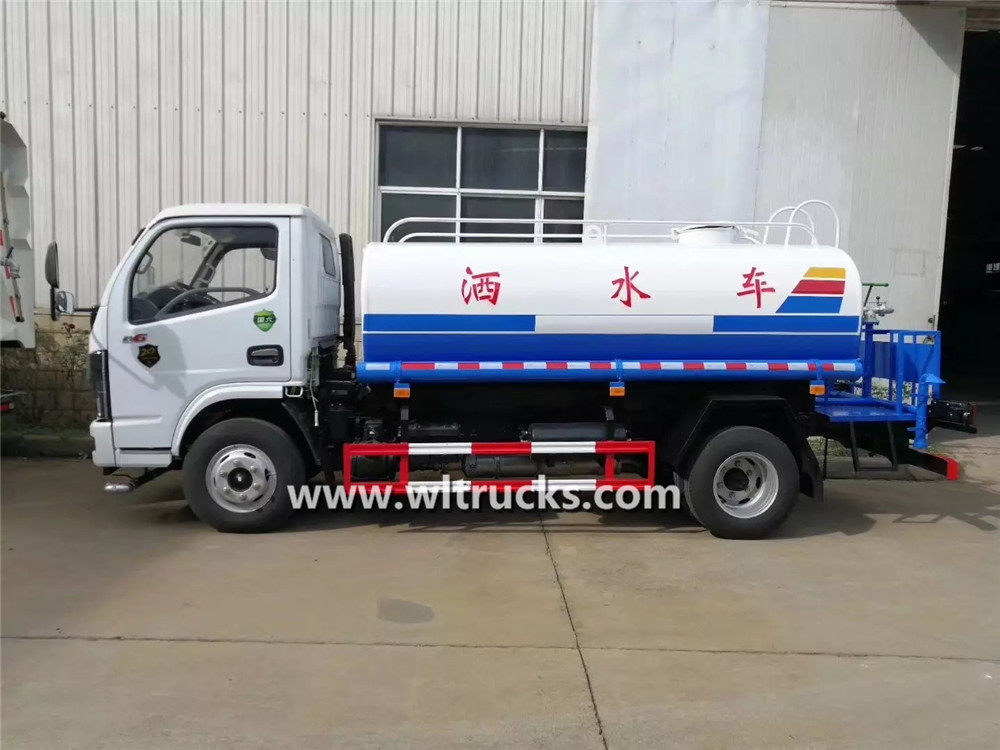 Small 5 ton construction road water tanker truck