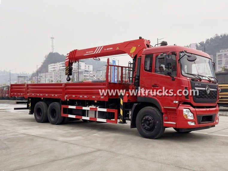 10 WHEELS Dongfeng KinLand truck mounted Sany Palfinger 12 ton crane