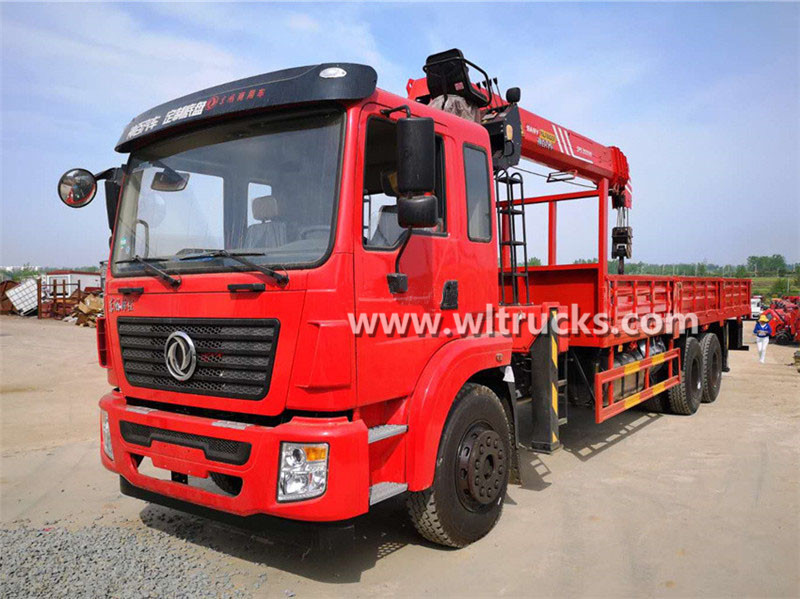 6x4 Dongfeng 12 ton Sany Palfinger straight arm truck mounted crane
