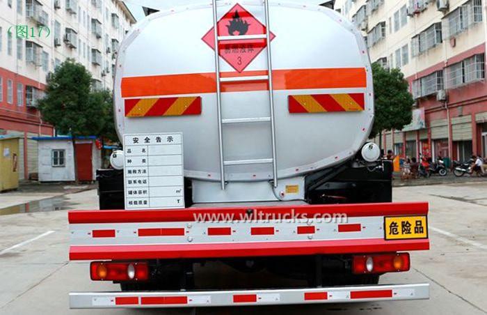 Dongfeng KinRun 10 ton Fuel oil tanker truck hazard sign image