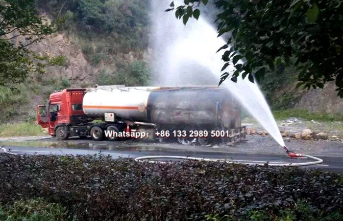 Fuel oil tanker truck caused fire and explosion