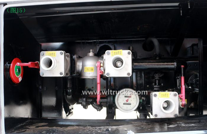 Picture of Dongfeng KinRun 10 ton Fuel oil tanker truck suction and discharge valve