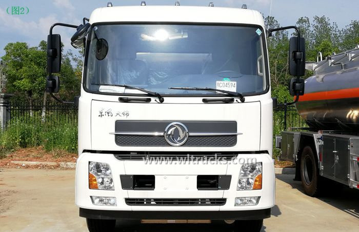 Picture of the Dongfeng KinRun 10 ton Fuel oil tanker truck front face of the cab