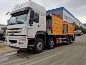 8x4 Howo epoxy asphalt synchronous gravel seal truck