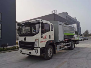 Howo 12000L disinfection and dust suppression truck