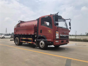 Howo 5cbm cleaning and sewage suction combined jetting truck