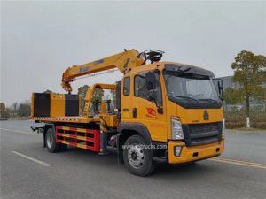 Howo tow truck mounted crane