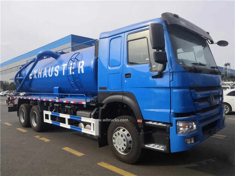 10 tyre HOWO 18cbm dirt sewage truck