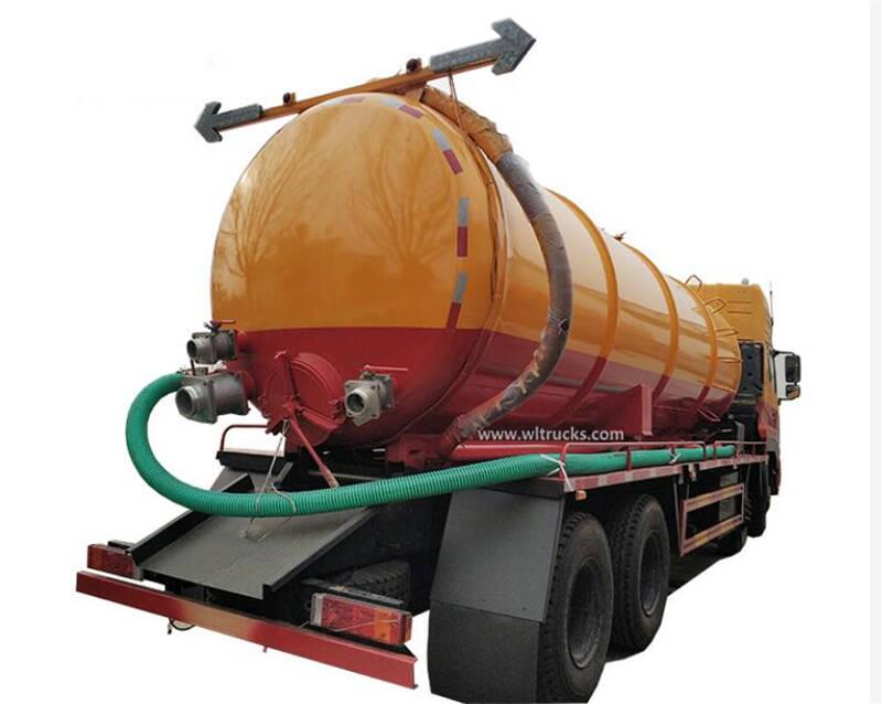 12 wheel Dongfeng Kinland 20cbm vacuum sewage suction truck