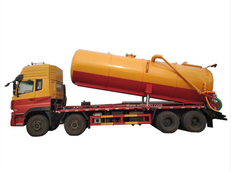 8x4 Dongfeng Kinland 20000 liters sewage suction truck