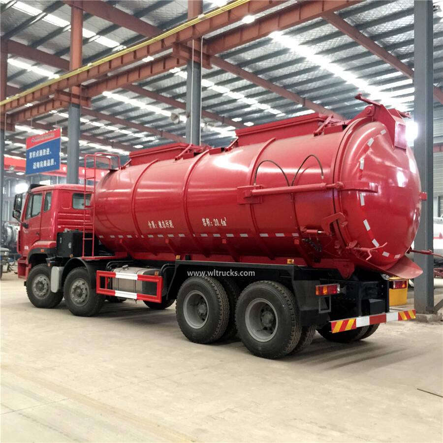 8x4 Sinotruk Howo 20cbm vacuum sewage suction truck