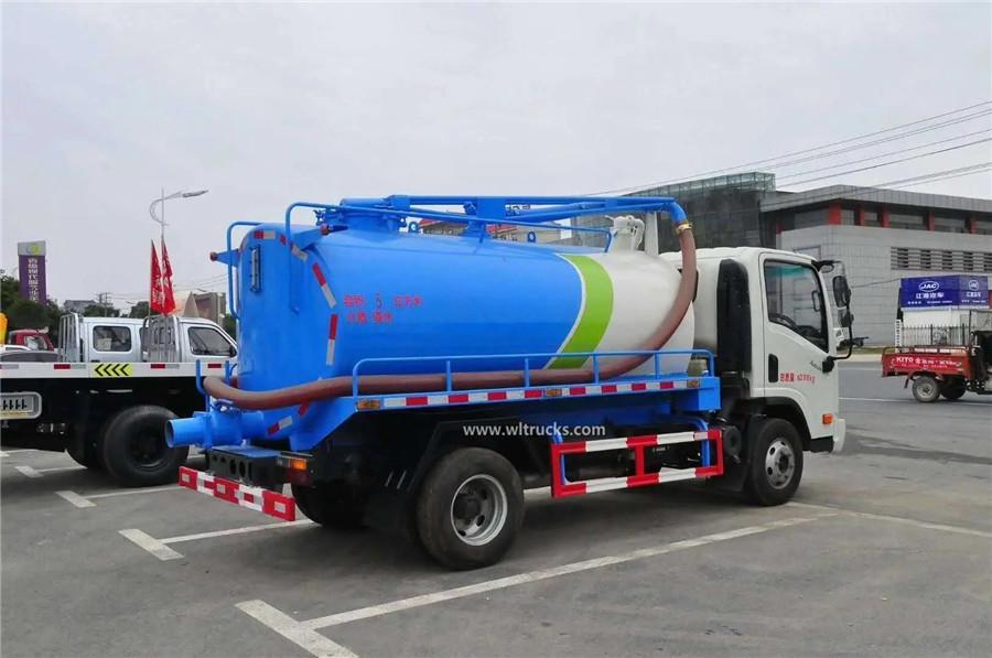 Dayun 6cbm excrement suction truck
