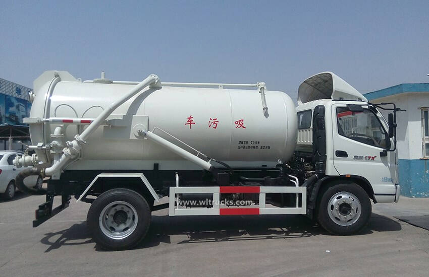 Foton 6000 liter to 8000liters sewage suction truck