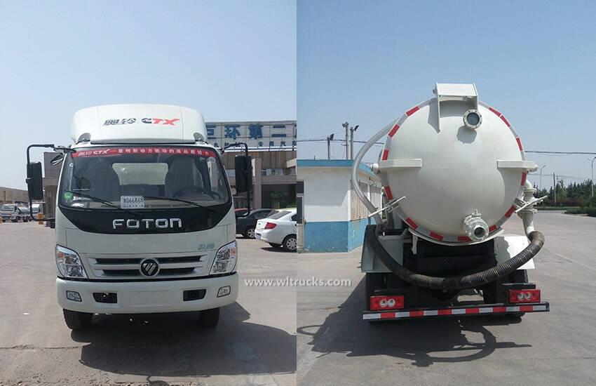 Foton 6000L to 8000L vacuum sewage suction truck