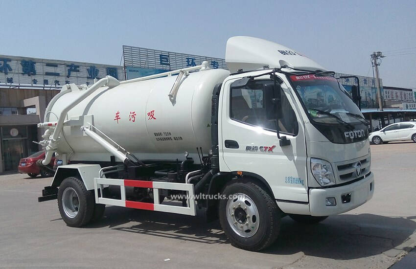 Foton 6cbm-8cbm sewage clean truck