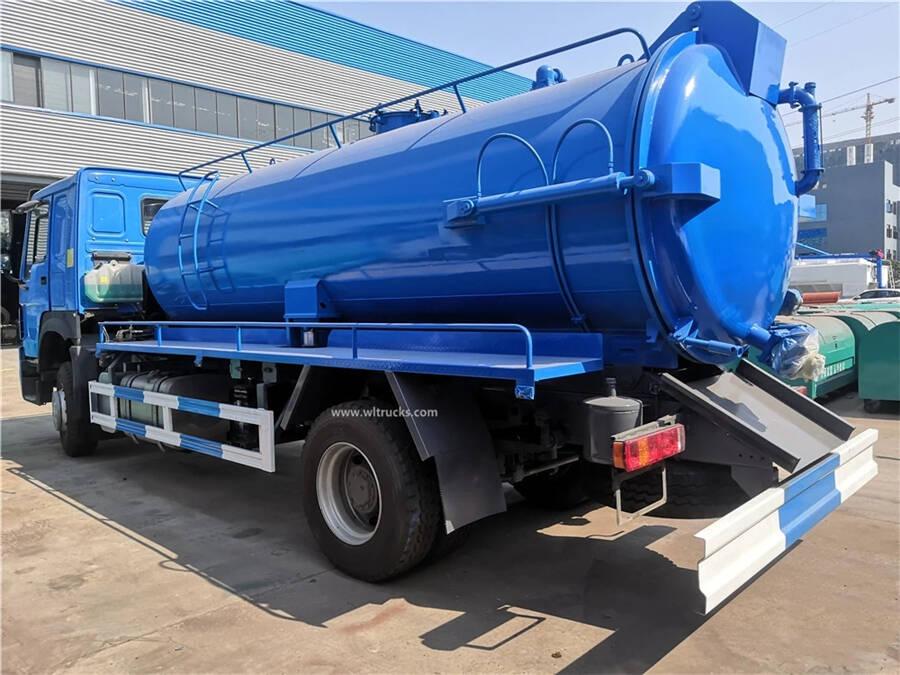 HOWO 15cbm vacuum sewage suction truck