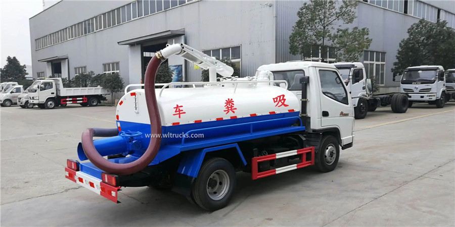 T-KING 3000L mini excrement suction truck