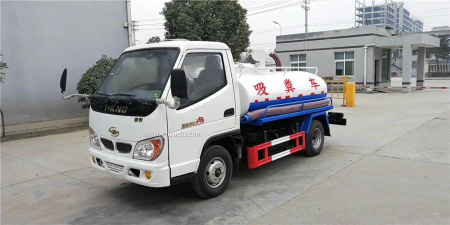 T-KING 3cbm vacuum septic tank truck