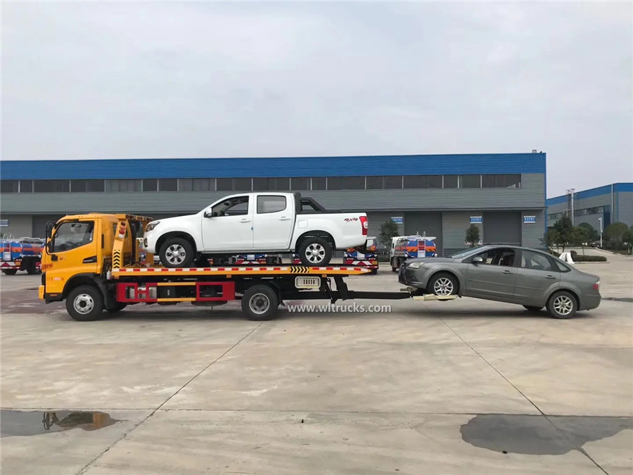 4x2 JAC 5 ton flatbed tow truck