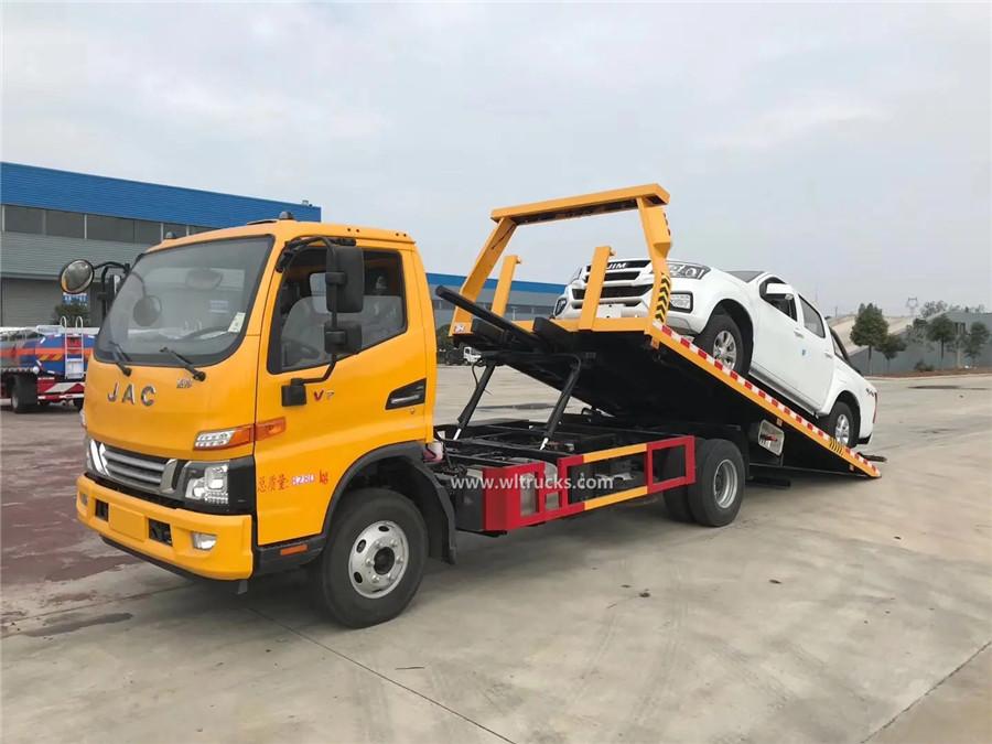 6 tire JAC 5t flat bed wrecker truck