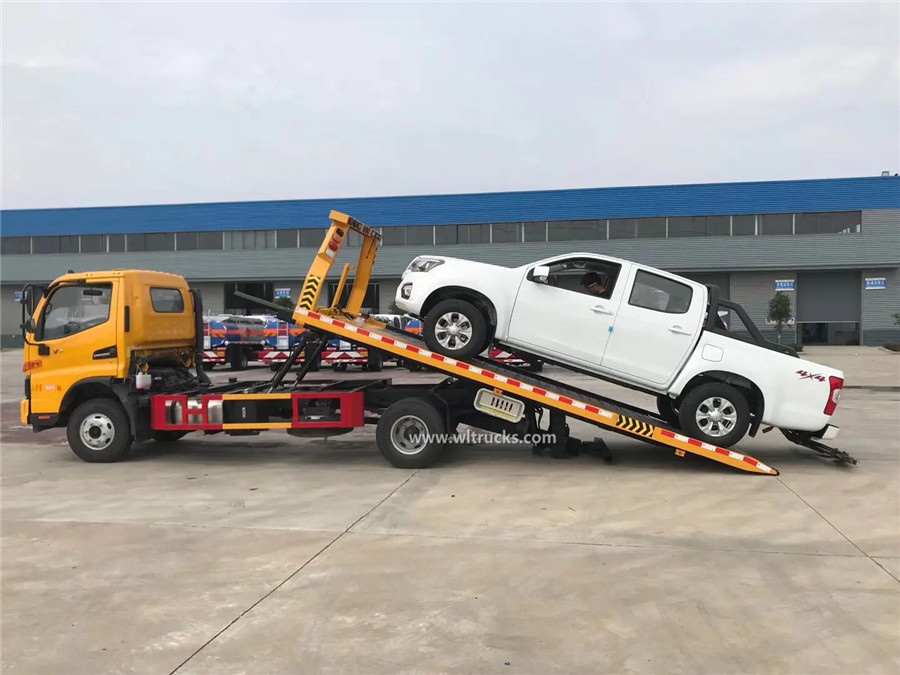 6 tyre JAC 5t flat bed wrecker tow truck