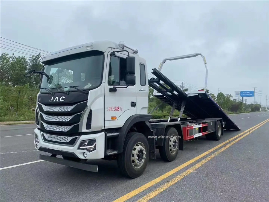 6x2 JAC K5 10ton flat bed wrecker truck