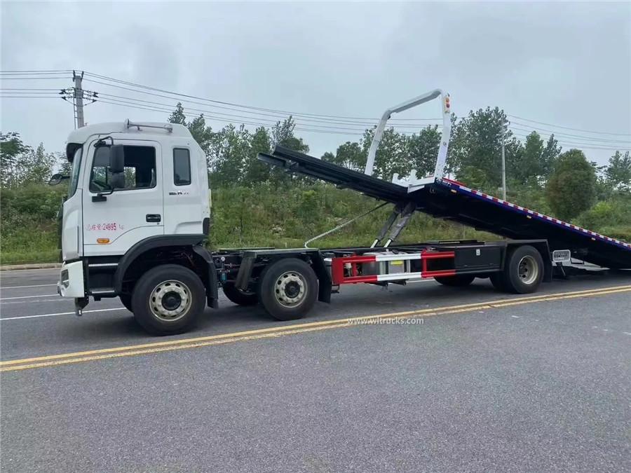 8 wheel JAC K5 10ton flat bed tow truck