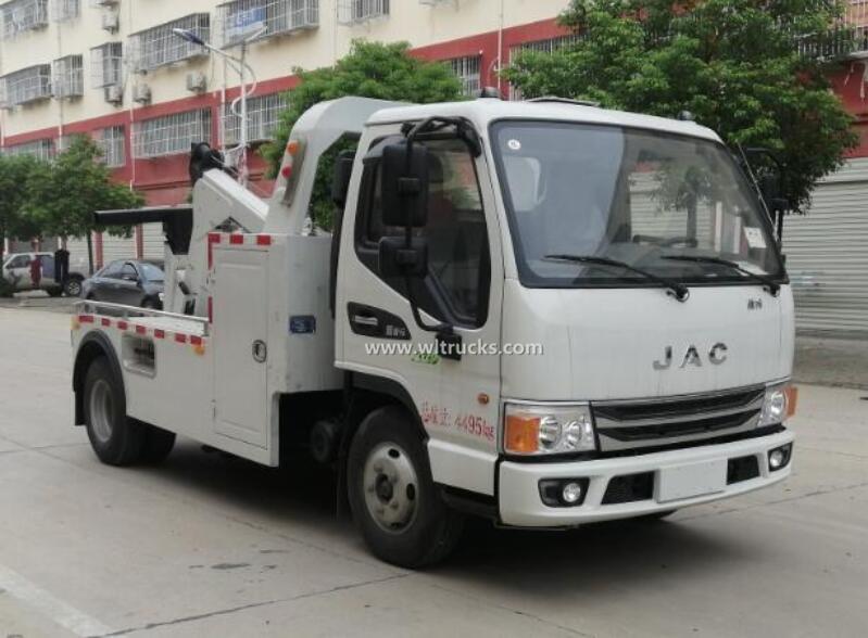 China JAC 3 ton small wrecker towing truck