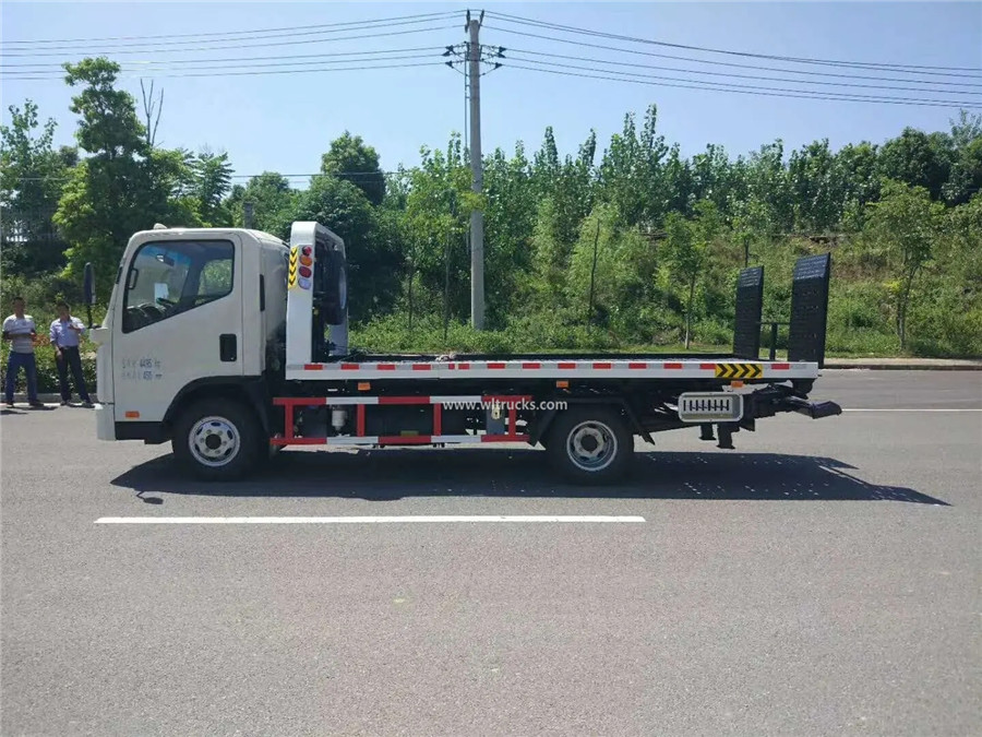 KAMA 3 ton flatbed slide tray recovery truck
