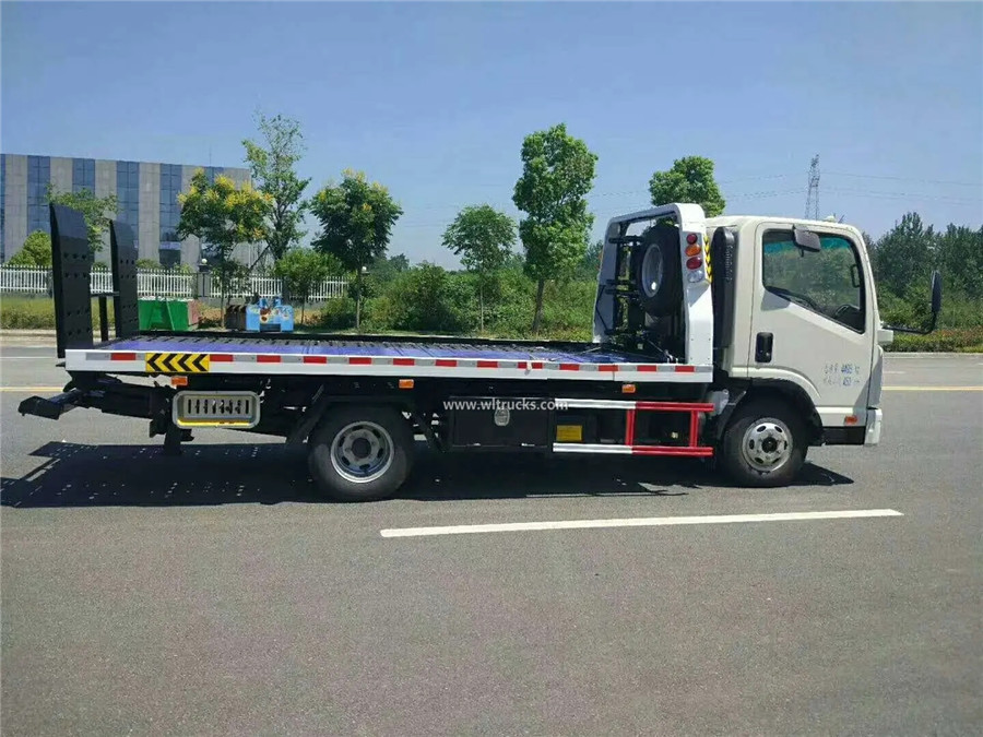KAMA 3 ton flatbed slide tray wrecker truck