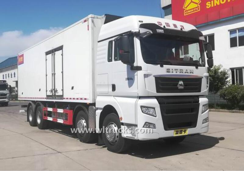 12 wheel Sino SITRAK 9.6m refrigerator freezer truck