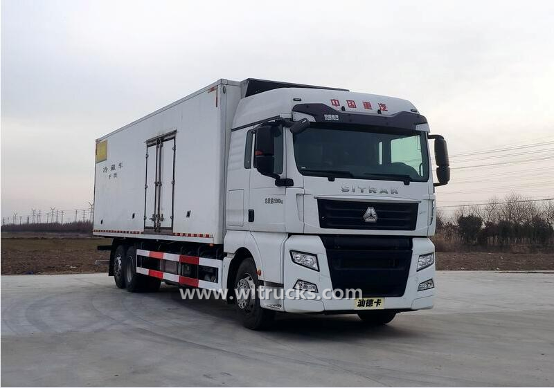 6x4 Sinotruk SITRAK 20 ton freezer delivery truck
