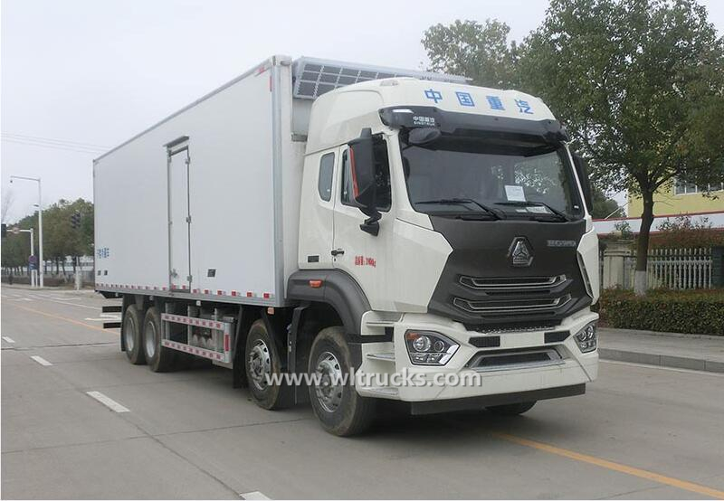 8X4 Sino Hohan 30 ton reefer container truck