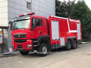 6x6 HOWO emergency rescue fire truck